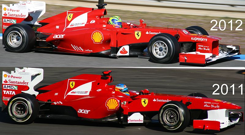 Snowbound ferrari shows off 2012 f1 car