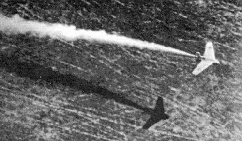 Немецкий ракетоплан DFS-194 на испытаниях