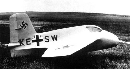 Ме-163A V4, впервые достигший скорости в 1000 км/час