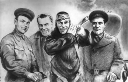 Слева направо: Александр Березняк, Алексей Исаев, Григорий Бахчиванджи и Виктор Болховитинов - те, благодаря кому появился БИ-1