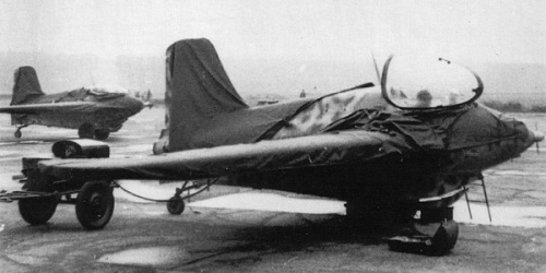 Ме-163 из JG400 на аэродроме Брандис