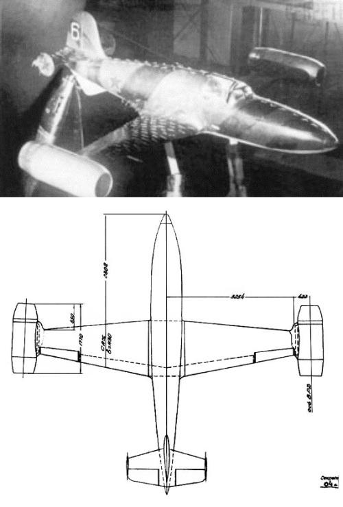 БИ-6 с дополнительными двигателями проходит испытания в аэродинамической трубе ЦАГИ